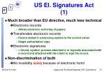 us el signatures act 1