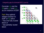 integrality gap for directed edc cont d2