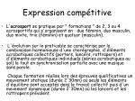expression comp titive