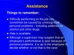 assistance