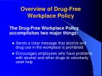 overview of drug free workplace policy