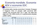 economia mondiale economie adv e economie edc