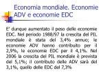economia mondiale economie adv e economie edc1