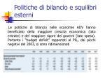 politiche di bilancio e squilibri esterni