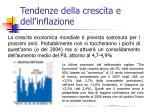 tendenze della crescita e dell inflazione
