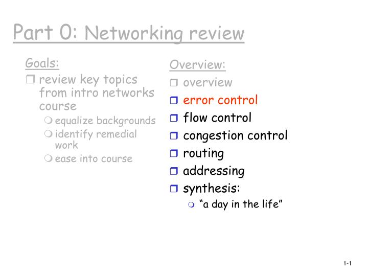 part 0 networking review n.