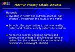 nutrition friendly schools initiative