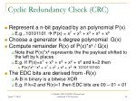 cyclic redundancy check crc
