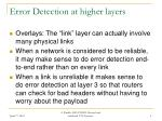 error detection at higher layers