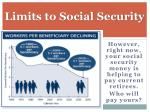 limits to social security