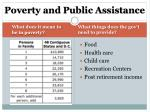 poverty and public assistance