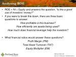 analyzing roe