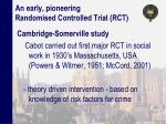 an early pioneering randomised controlled trial rct
