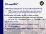 critiques of ebp