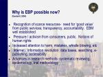 why is ebp possible now gambrill 2004