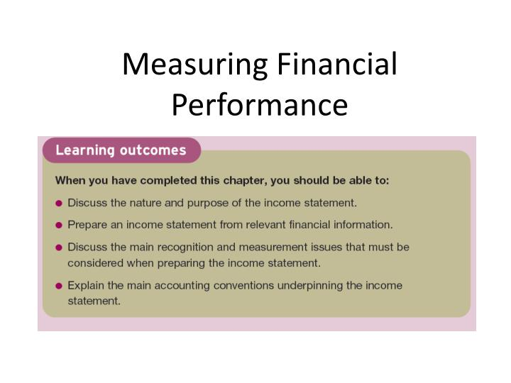 measuring financial performance n.