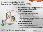 transparent data encryption tde