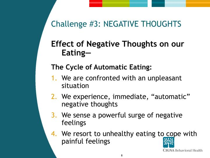 Challenge #3: NEGATIVE THOUGHTS