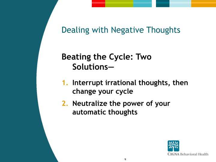 Dealing with Negative Thoughts