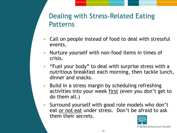 Dealing with Stress-Related Eating Patterns