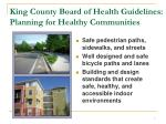 king county board of health guidelines planning for healthy communities