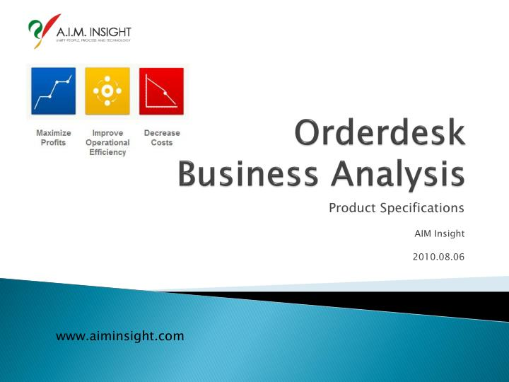 orderdesk business analysis n.