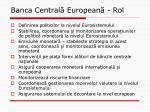 banca central european rol