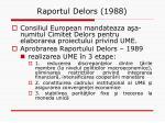 raportul delors 1988