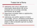 tratatul de la roma