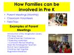 how families can be involved in pre k