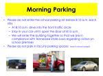 morning parking