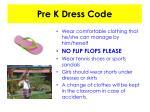 pre k dress code