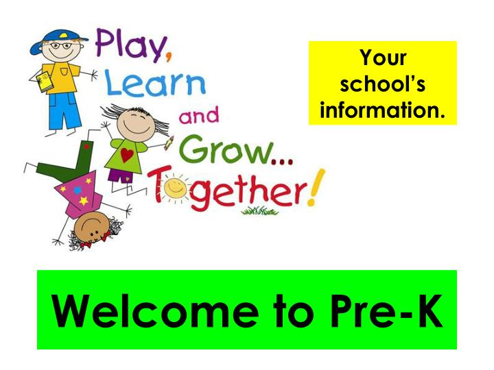 welcome to pre k n.