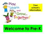 welcome to pre k