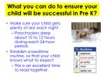 what you can do to ensure your child will be successful in pre k
