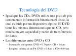 tecnolog a del dvd