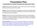 presentation plan incorporation of active learning and assessment tools