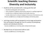 scientific teaching themes diversity and inclusivity
