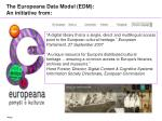 the europeana data model edm an initiative from