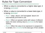 rules for type conversion