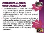 czeisler et al 1982 utah chemical plant
