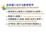 educational philosophy for the project