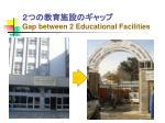 gap between 2 educational facilities