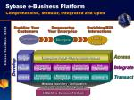 sybase e business platform comprehensive modular integrated and open