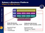 sybase e business platform support for web services