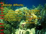 abiotic affects
