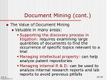 document mining cont