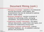 document mining cont1
