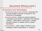 document mining cont2