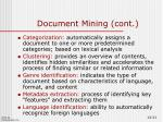 document mining cont3